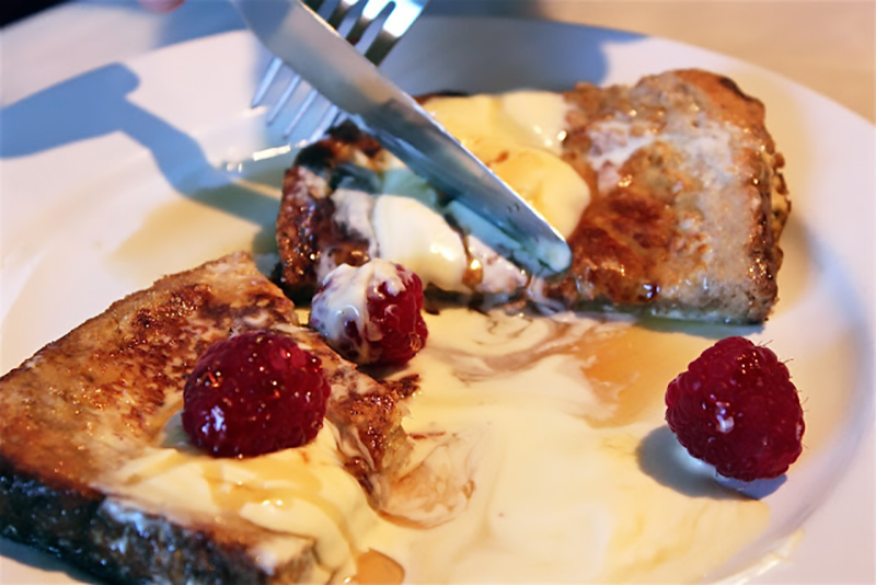 Healthy French Toast with Raspberries and Maple