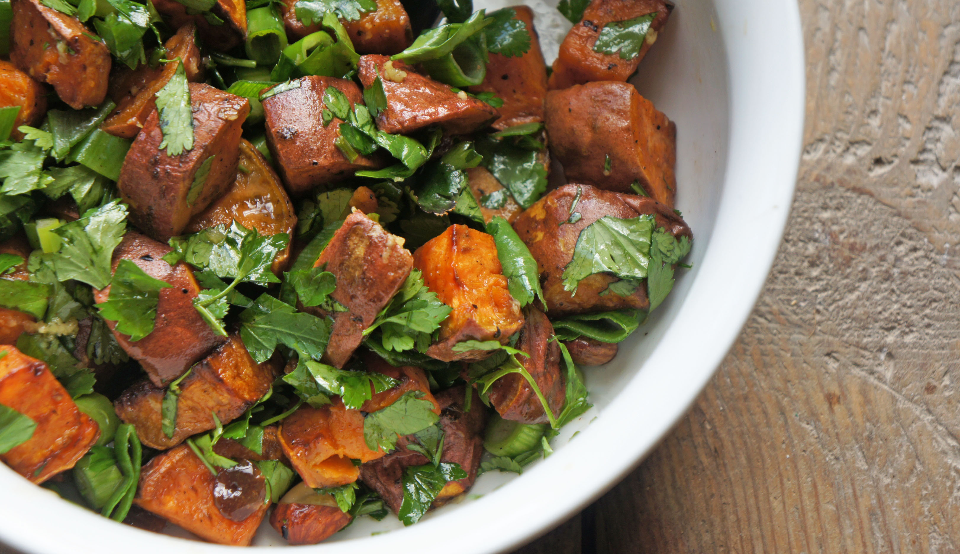 Sweet Potato with Almonds and Sultanas