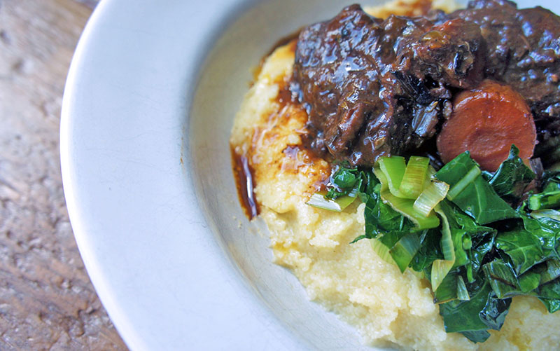 Slow-cooked Ox Cheeks in Mulled Wine
