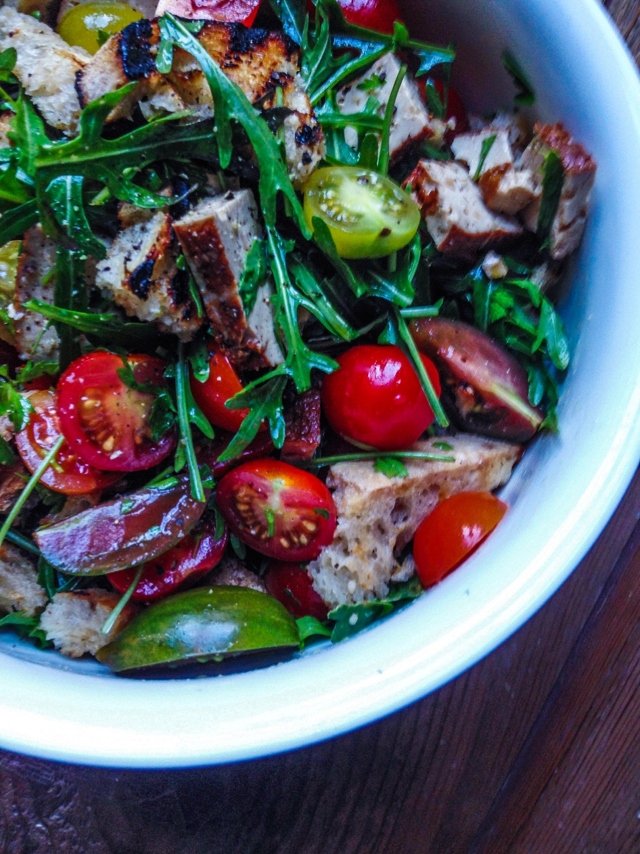 Smoked Tofu and Heritage Tomato Panzanella