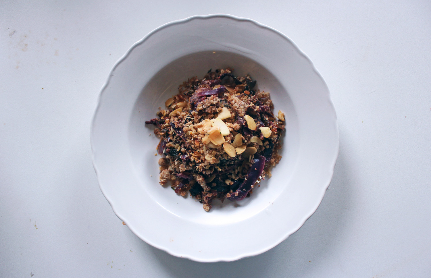 Red Cabbage, Bacon and Smoked Chilli Crumble