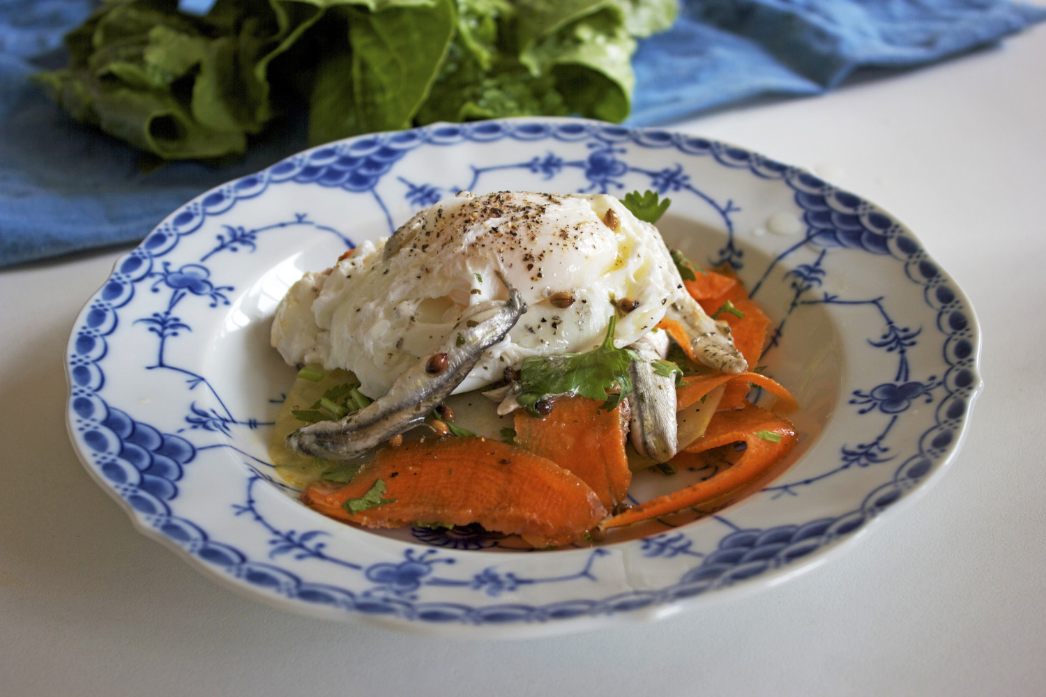 Carrot, Kohlrabi and Coriander Salad