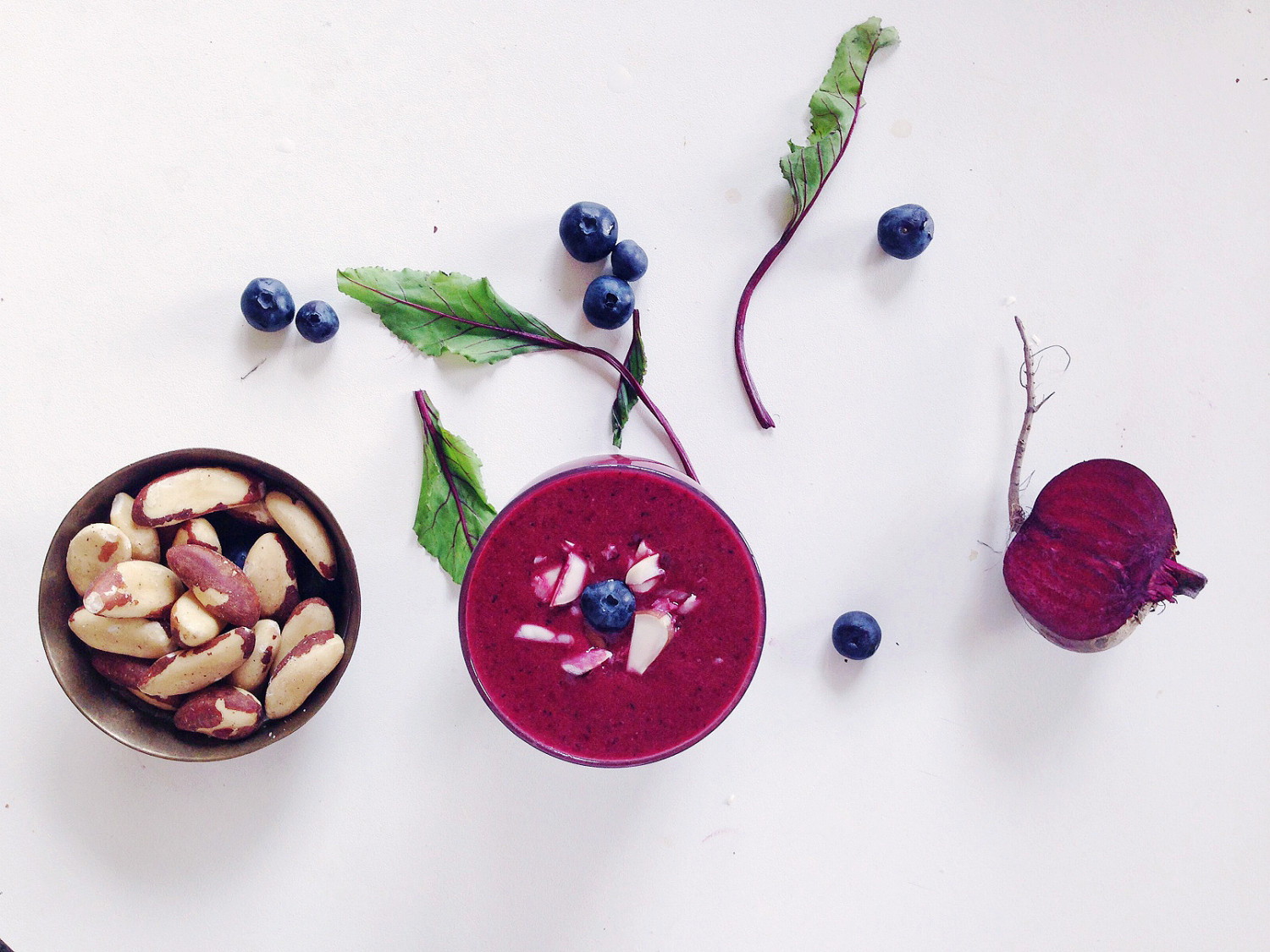 Beetroot, Blueberry and Brazil Nut Smoothie