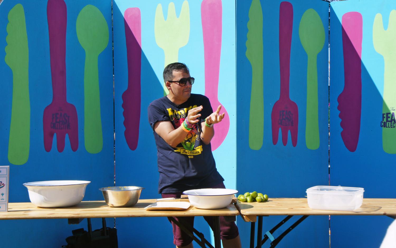 Cooking Demos at Camp Bestival - Tess Ward - Martin Morales