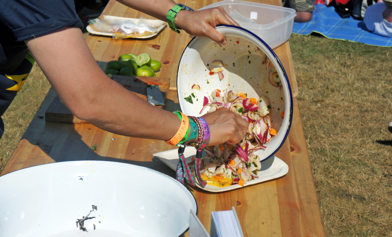 Cooking Demos at Camp Bestival - Tess Ward - Ceviche