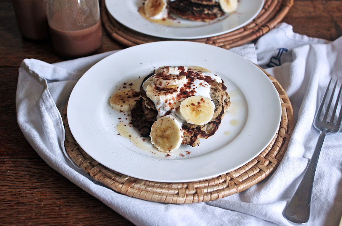 Easy Banana and Chia Seed Protein Pancakes Recipe - Tess Ward
