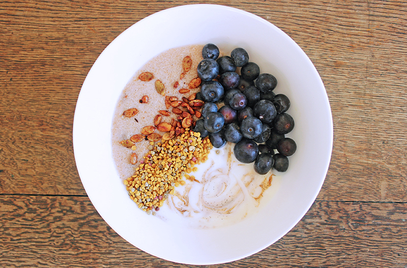 Chai spiced Amaranth Porridge Tess Ward Healthy Chef and Food Writer London Vegan Breakfast