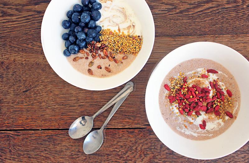 Chai spiced Amaranth Porridge Tess Ward Healthy Chef and Food Writer London  Vegan Breakfast