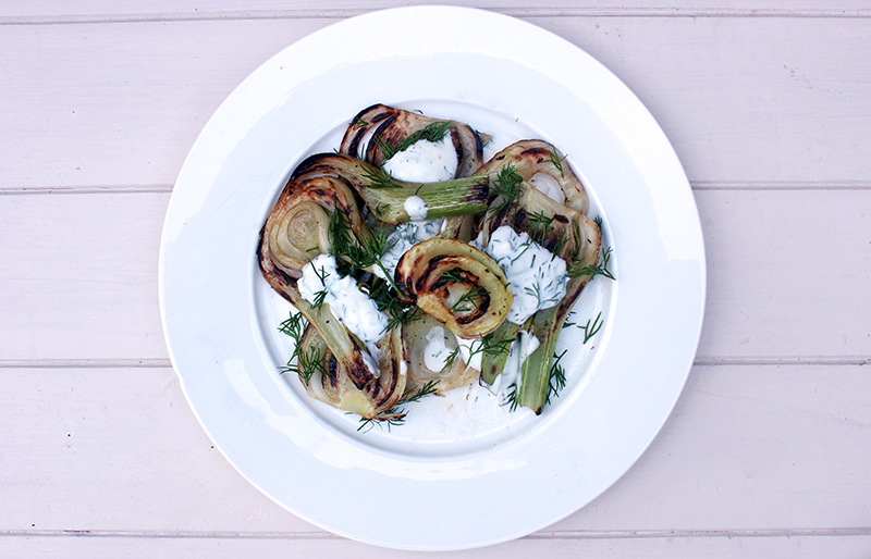 Healthy and Delicious Recipe Caramelised Fennel and Dill Curd Salad Tess Ward Chef and Food Writer