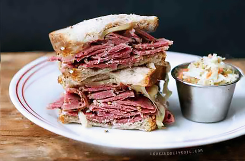 How to make a Sandwich, Tess Ward chef, rye bread, pastrami