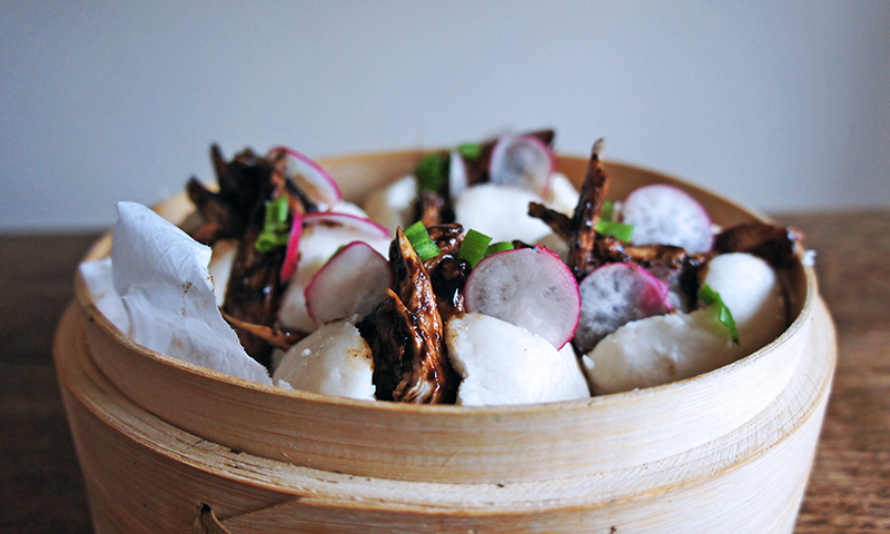 Hoisin Chicken Steamed Coconut Buns , Tess Ward Chef
