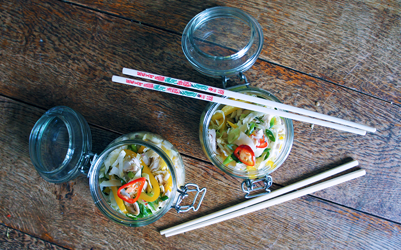 Lemongrass and Coconut Chicken Salad Jars