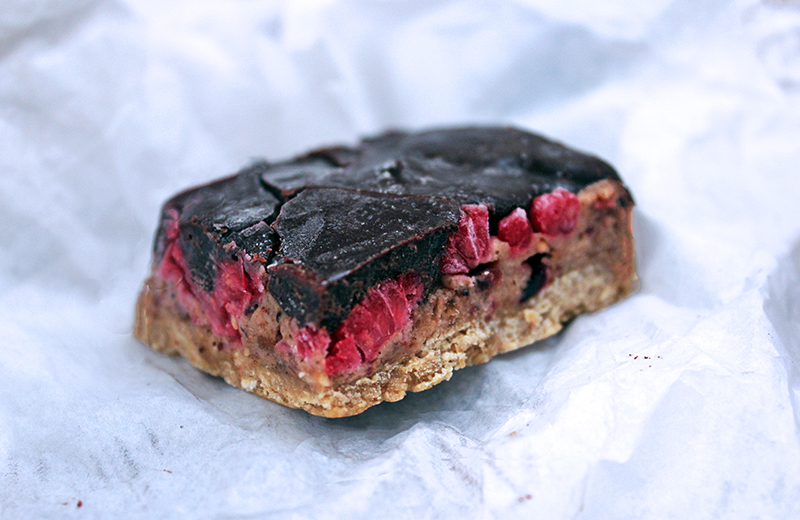 Body-loving Chocolate and Raspberry Fudge Bars, Healthy, Delicious, Tess Ward, Recipe, Nutritious, Easy, Speedy