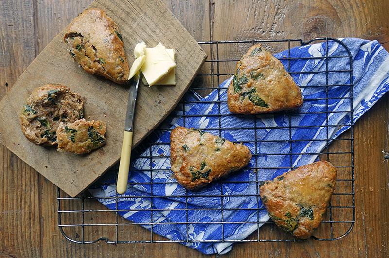 Swiss Chard Spelt Scones Recipe, tess Ward, healthy, spelt, scone, fast, breakfast, easy