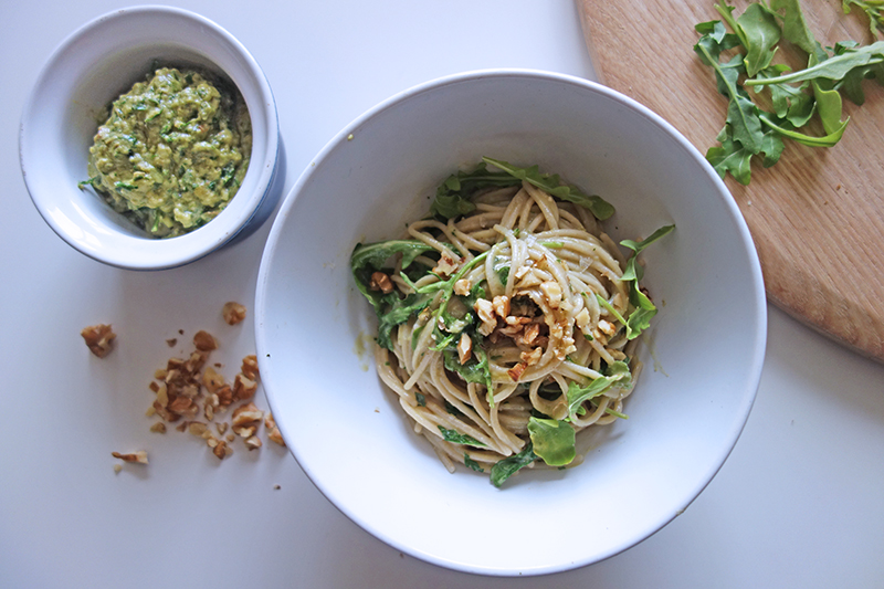 Avocado Pesto Spaghetti, recipe, healthy, eat clean, easy