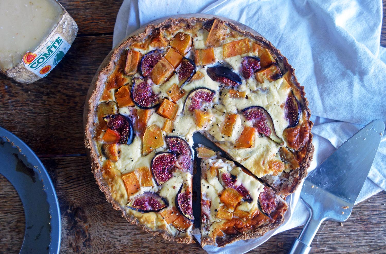 Sweet Potato and Fig Tart, Tess Ward, Healthy, Easy, Recipe