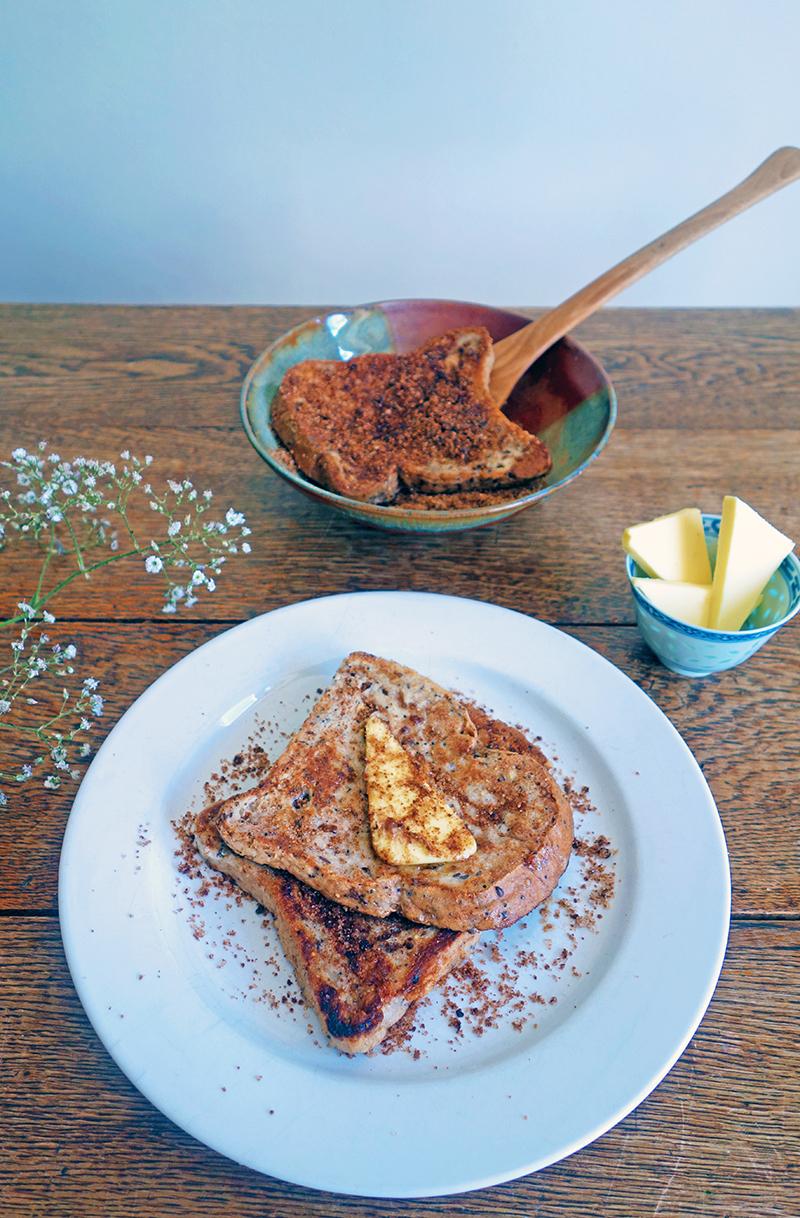 French Toast with Cinnamon Sugar Recipe, Tess Ward