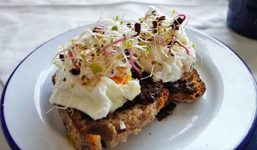 Poached Eggs and Olive Tapenade Video