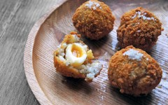 Chestnut Arancini Quails Eggs, Tess Ward, Chef, Recipe, Starter, Delicious, Leftovers