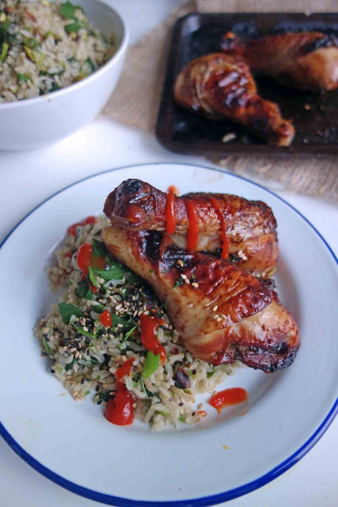 Sticky Marmite Chicken and Bang Bang Rice