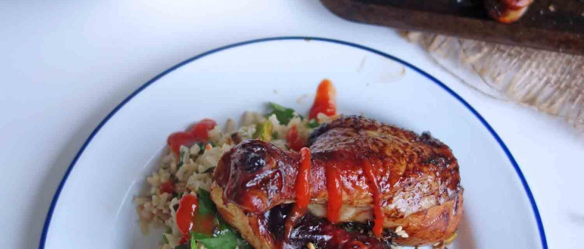 Sticky Marmite Chicken and Bang Bang Rice