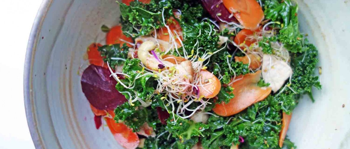 Chicken and Pickled Winter Veg Salad, Tess Ward, Healthy,