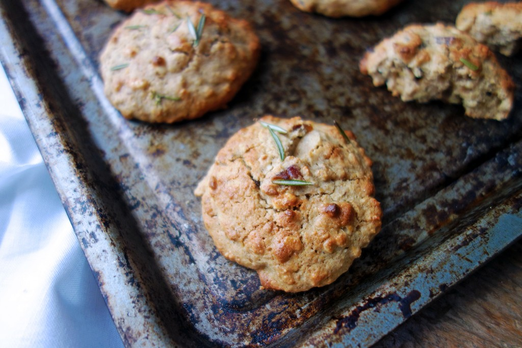 Orange and Rosemary Oatmeal Scone Cookies, Healthy, gluten, vegan, sweet, delicious