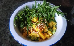 VIDEO, Tess Ward, Recipe, Salad, Mango, Avocado and Toasted Peanut Salad