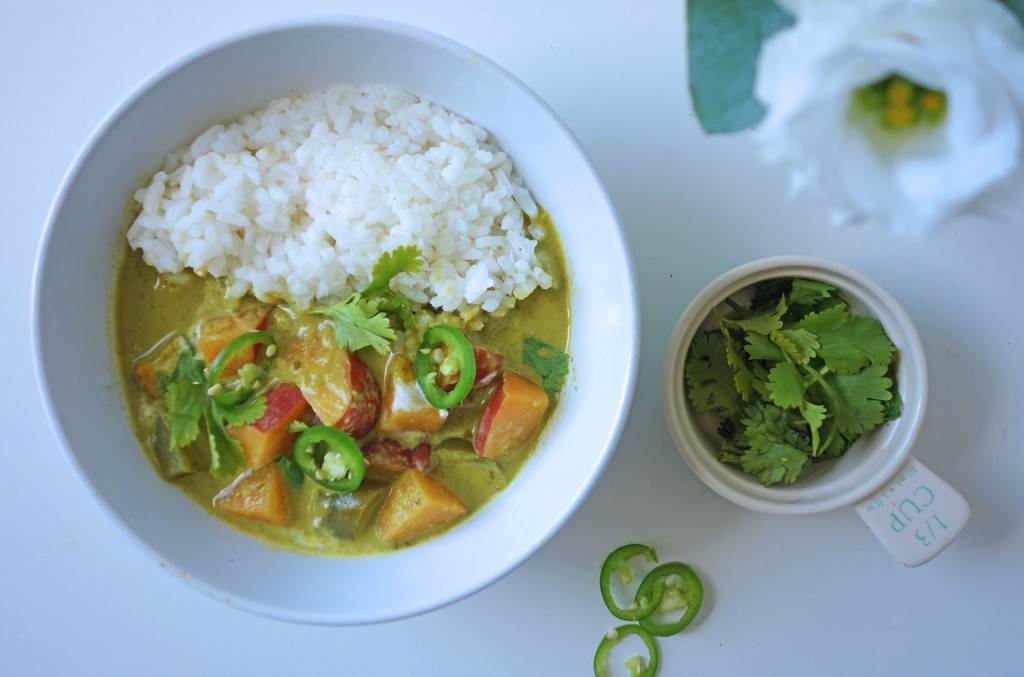 Tess Ward, Recipe, Sweet potato, curry, green, thai, superfood