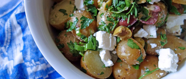 Potato Salad with Feta and Olives, Tess Ward, recipe, potato, salad, summer, sainsbury's