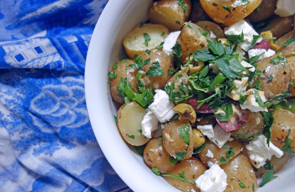 Potato Salad with Feta and Olives, Tess Ward, recipe, potato, salad, summer, sainsbury's