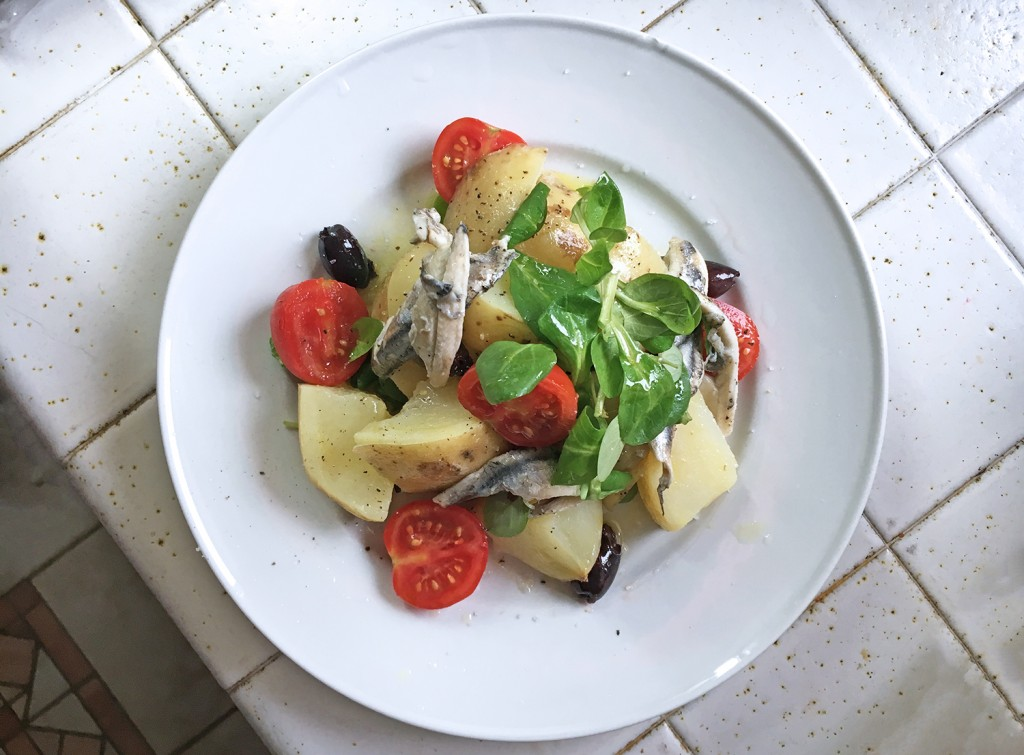 Lunchbox Salad with Potatoes and Anchovies