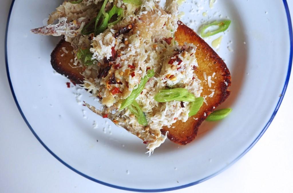 Chilli dressed Crab on Toasted Brioche, tess ward, breakfast, recipe