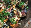 Roasted Aubergine and Sweet Potato with Tamarind and Tahini, tess ward, recipe, roast, veggies