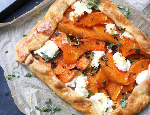 Squash, Sage, Honey and Mozzarella Tart