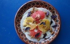Pink Grapefruit and Jicama with Basil, tess ward, recipe, salad, mexican, crunchy, grapefruit, seeds, vegan, healthy, basil